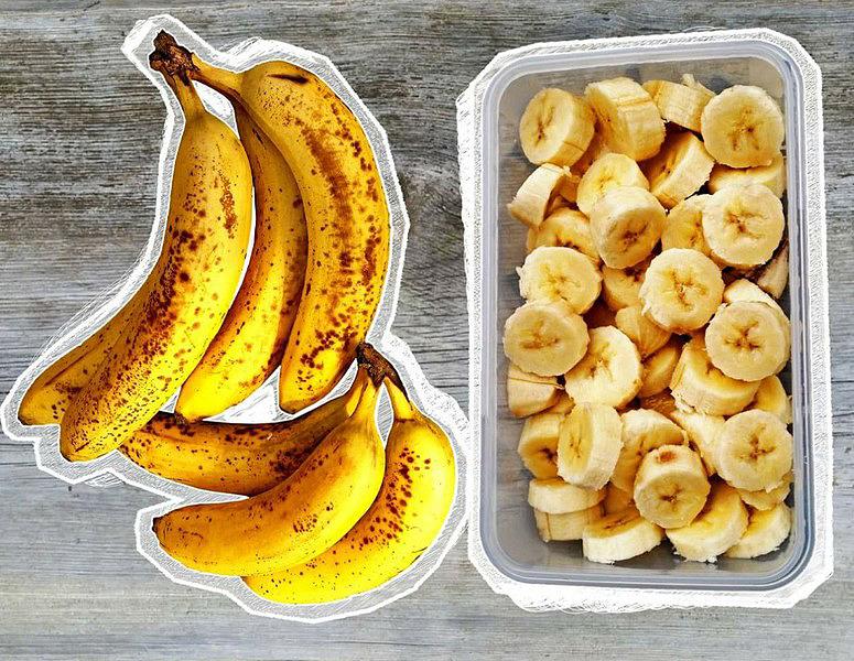 bananen, bananenscheiben, nicecream, vegane eiscreme